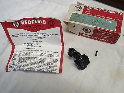Vintage Redfield NIB receiver peep sight listed for 03 Springfield,Mauser etc.