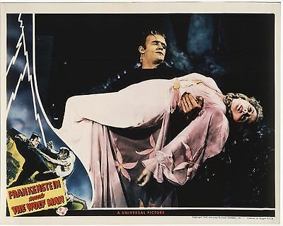 FRANKENSTEIN MEETS THE WOLF MAN 1943 8x10 photo copy of lobby card 1