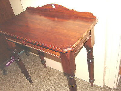 charming antique Art Deco  side hall lamp table with drawer Restored