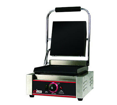 Winco ESG-1 Electric Countertop Single Sandwich Grill  Stainless Steel