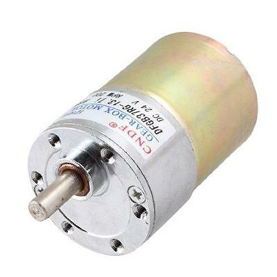 24V DC 200RPM 6mm Shaft Magnetic Electric Gear Box Motor Replacement New