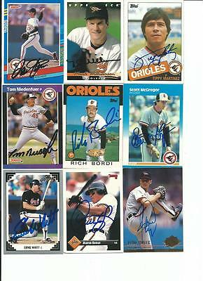 Baltimore   Orioles     9   Card   Autographed   Lot