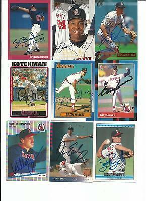 California   Angels    9   Card   Autographed   Lot
