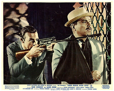 From Russia With Love James Bond Original Lobby Card Sean Connery With Rifle