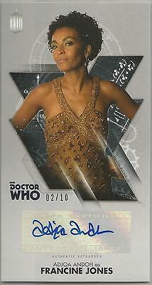 TOPPS DR. WHO THE TENTH DOCTOR ADVENTURES autograph card - ADJOA ANDOH #02/10