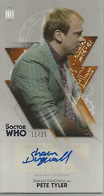 TOPPS DR. WHO THE TENTH DOCTOR ADVENTURES autograph card - SHAUN DINGWALL #11/25