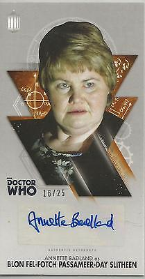 TOPPS DR. WHO THE TENTH DOCTOR ADVENTURES autograph card- ANNETTE BADLAND #16/25