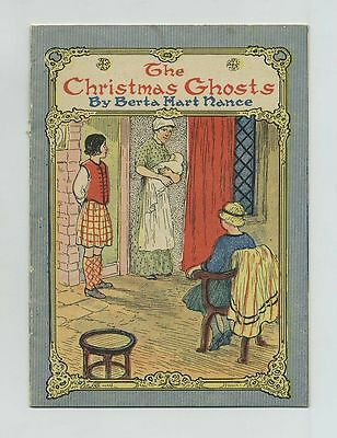 1916 The Christmas Ghosts Illustrated Story Booklet by Berta Hart Nance cv6419