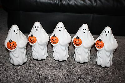 Lot of 5 Ghost Blow Mold Light Toppers