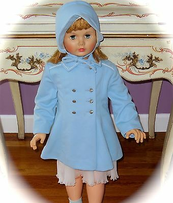 Fabulous!  Vintage 1940's Union Made  *Girls*  ~Coat & Matching Bonnet~ TODDLER