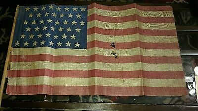 Antique Authentic 1896, Western State of Utah 45 Star American Flag,
