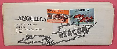 Unusual 1969 Anguilla The Beacon Folded News Paper To Usa