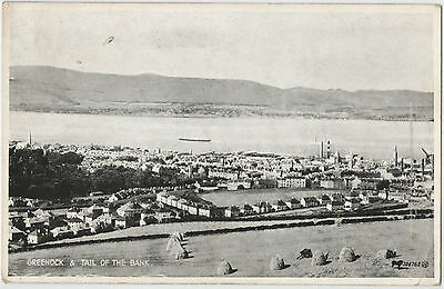 Greenock & Tail Of The Bank 1942 Used Postcard 206765 Jv