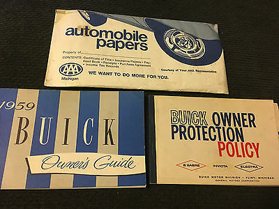 1959 Buick Owners Manual LeSabre Invicta Electra and 225 Guide PROTECTION POLICY