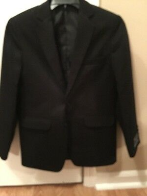 New Boys Dockers Black Suit Sport Coat SZ 10 Regular 2 Button