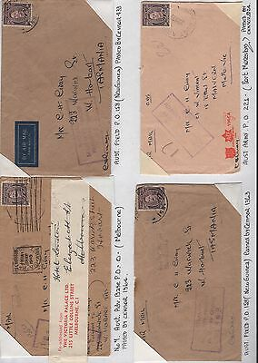 Australia 8x WWII covers inc censored air mail and readdressed label
