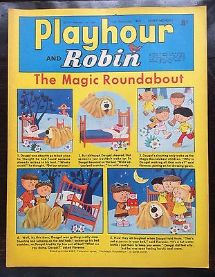 Playhour And Robin Comic 15 Nov 1969. Vfn+ Excellent Condition. Puzzels Not Done