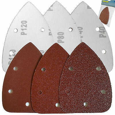 6 Palm Sander Pads/Velcro Palm Sanding Pads Triangle Detail Sheets