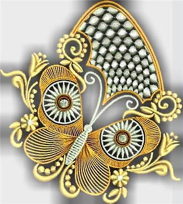 Decorative Butterflies 12 Machine Embroidery Designs Cd 2 Sizes