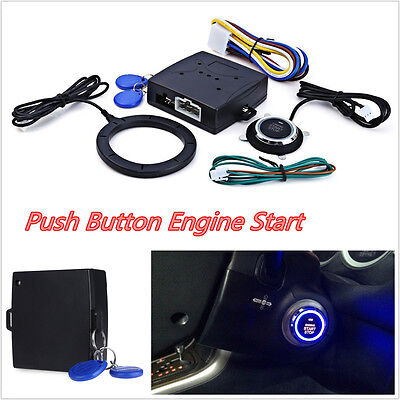 Car SUV Engine Push Start Button Lock Ignition Keyless Entry Immobilizer Systems