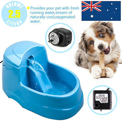 2.5L Automatic Waterfall Electric Pet Cat Dog Water Fountain Drinking Bowl AU