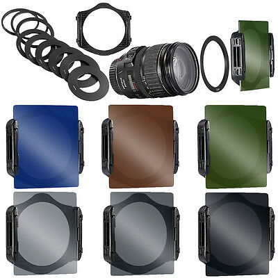 Neewer 49-82mm Full ND Filters Full Color Filters with Metal Adapter and Holder