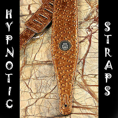 Hypnotic Straps Gold Notes Glossy Guitar, Bass, Acoustic Strap Awesome Padded