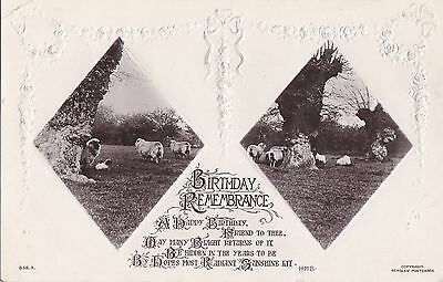 Old Postcard Farm Animals Sheep Farming Birthday Remembrance Oc334