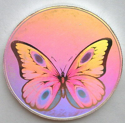 St.Thomas Prince 1998 Butterfly Hologram 1oz Silver Coin,Proof