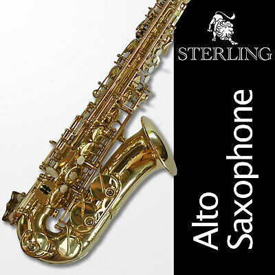 Alto Sax •  STERLING Eb Saxophone • Brand New • FREE EXPRESS POST • With Case •