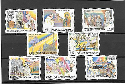 "VATICAN  CITY  ""AIR""1986  POPE JOHN 11.s  JOURNEYS  4TH  SERIES  MNH"