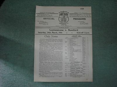 Leytonstone  V  Romford  (Il)  24-3-56   Four Pager