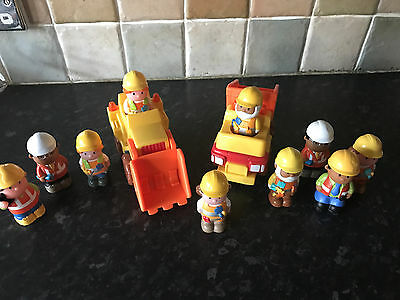 Early Learning Centre ELC Happyland Construction Playset 2 Dumper Trucks Figures