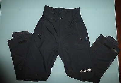 Womens COLUMBIA Black Omnitech Waterproof Breathable Ski Pants - Small