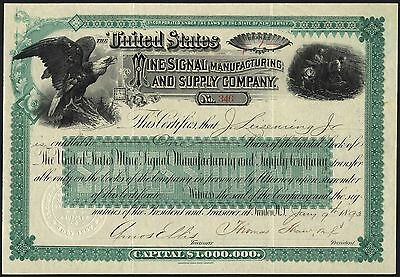 United States Mine Signal Manufacturing and Supply Co., New Jersey, 1893