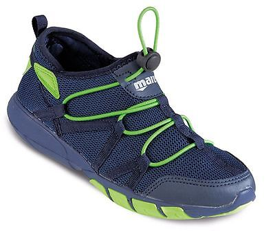MARES  MEN'S Fast Drain WATER AQUA TRAINERS Beach SHOES - NAVY LIME GREEN