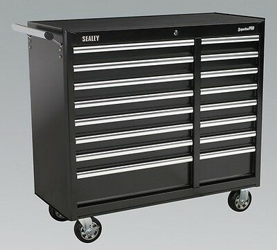 Sealey AP41169B Rollcab 16 Drawer + Ball Bearing Runners Hd Garage Tool Storage