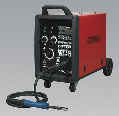 Sealey SUPERMIG180 Pro Mig Welder 180Amp 230V + Binzel Euro Torch Welding