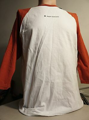 """APPLE SPECIALIST T SHIRT LARGE Computer Employee """"PARALLELS 07"""" mac/genius/store"""