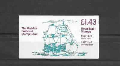 GB 1982 Holiday Postcard Folded £1.43 Booklet - FN 3A