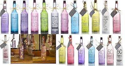 Starlight Bottle LED light up Decoration with Message Family, Friend Christmas