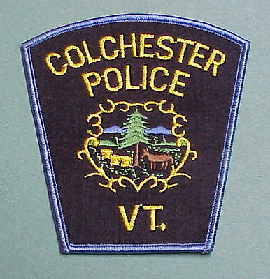 Colchester  Vermont  Vt   Police Patch  Nice!!   Free Shipping!!!