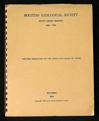 Petroleum Houston Geological Society Study Group Report 1958-1959 Comb Binding