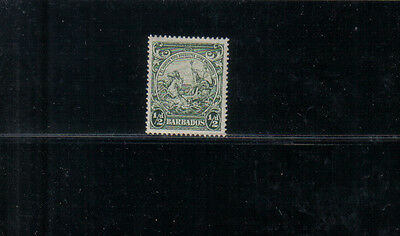 Barbados George VI 1938-47 1/2d green mounted mint