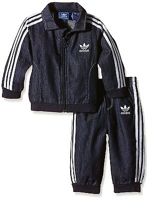 Adidas Originals Firebird Jeans Kinder Jogger Denim Trainingsanzug Sport Anzug