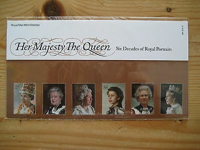 Presentation Pack: H.m.  The Queen  -   Six Decades Of Royal Portraits.
