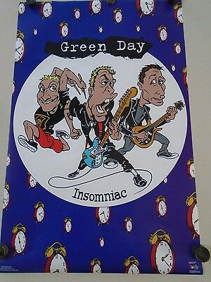 Green Day / Original Vintage Poster - Insomniac - #6504 / Exc. new cond. 22x34""