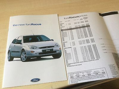 FORD FOCUS  LAUNCH  SMALL SALES BROCHURE & PRICE LIST1998  #ForFo01