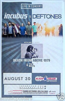 Incubus / Deftones / Death From Above 1979 San Diego 2015 Concert Tour Poster