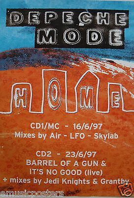 "DEPECHE MODE ""HOME + MIXES"" U.K. PROMO POSTER FROM 1997 - New Wave Rock Music"